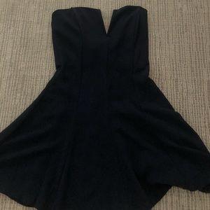 TOBI STRAPLESS DRESS (NAVY)